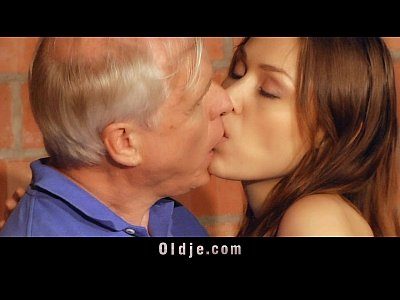 Old man fucks his young neighbor girl in the shed