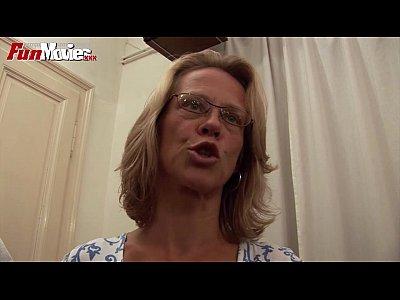 Blonde Bukkake Cumshot video: FUN MOVIES Gangbanging Granny
