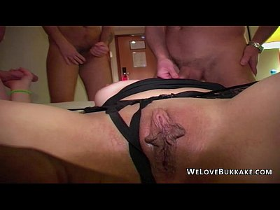 British Bukkake Teen video: Teen facials delivered by older men