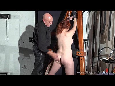 Redhead Tied Whipping video: Young redhead slavegirl Vickys dungeon whipping and swedish submissive tied