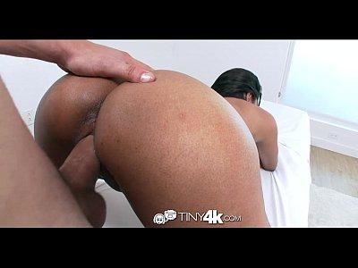 Blowjob Ebony Facial video: Tiny4k - Ebony Katalina Mills gets a messy oiled massage fuck