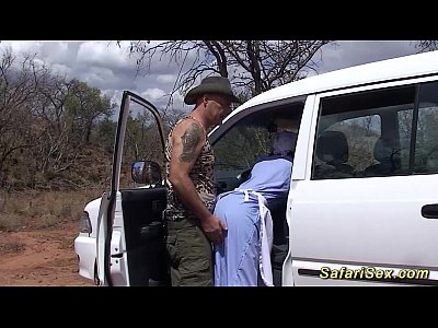 Black Ebony Outdoor video: real african safari sex trip