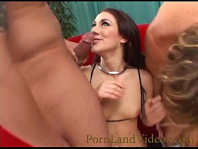 skinny milf Amber gets two big cocks and cumshot on hair