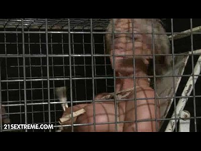Blonde Blowjob Cage video: Caged Beast