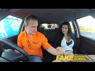 Funny British porno: Fake Driving School Male Learner fucking his female driving examiner
