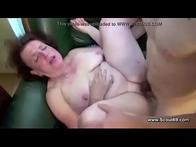 Deutsch German Hardcore video: Mom caught german boy and get fucked in all holes