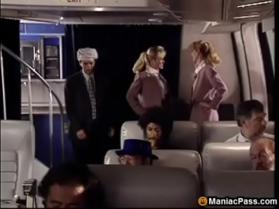 Tits Blonde Shaved video: Hot flight attendants threesome