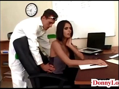 Cute Donny First video: Donny Long gives cute super hot huge tit secretary her first big cock