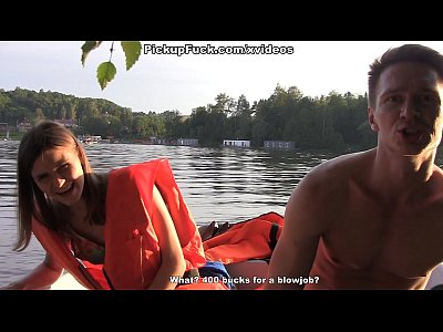 Outdoor Threesome Creampie video: Three men in a boat (to say nothing of a pick up girl) scene 1