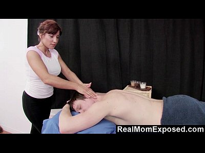 Massage Tits Blowjob video: RealMomExposed - Experienced Masseuse Can't Resist a Young Cock