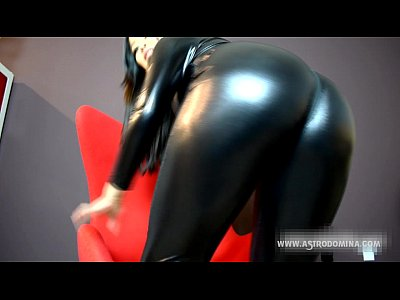 Femdom Latex Domination video: PVC Ass worship and humiliation feat. AstroDomina