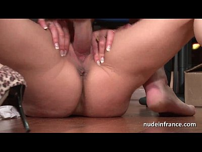 Amateur Hardcore French video: Amateur mature blonde anal fucked hard at office