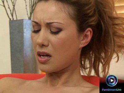 Tits Pornstar Solo video: Cutie Karina stuffed her fave dildo into her hot cunt