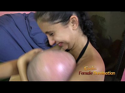Fetish Domination Bondage video: Girl Is Smothering Guys Face to Her Small Breast
