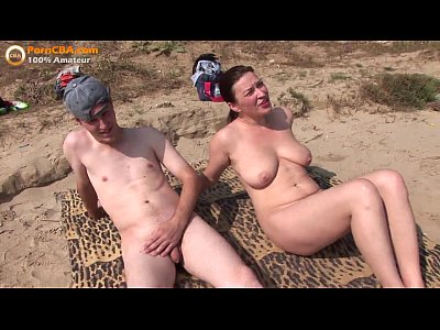 Hairy Beach Public video: Real amateur threesome on the beach