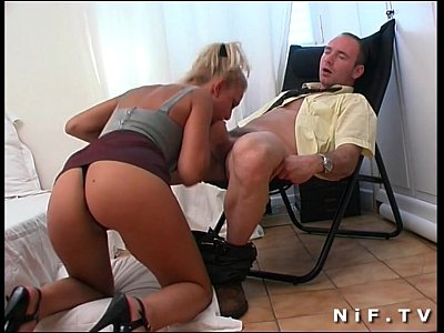 Amateur French Blonde video: French babe Delfynn Delage gets her ass hammered
