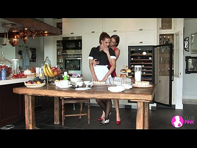 Brunette Kissing Lesbian video: Lesbian Seduces her Maid - Viv Thomas HD