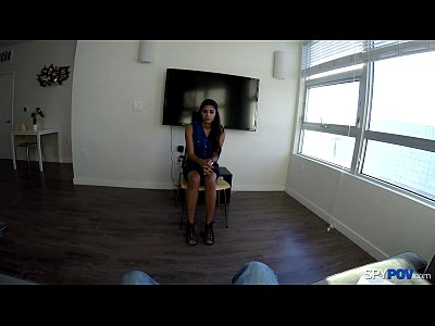 Spy Pov - Test run for hot Latina pussy