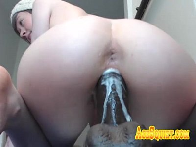 Big White Ass Knows How to Ride ACESQUIRT Sex Toy Til Dripping Delicious Cream