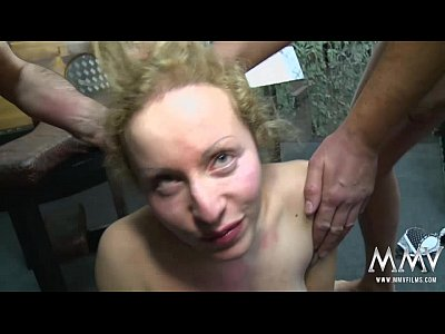 Bigdicks Bigtits Blonde video: MMV FILMS German Gangbang in a cage