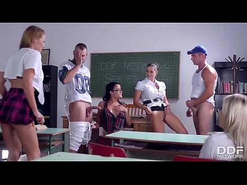 The Schoolgirl Hardcore Sex Orgy of the Fucking Year!