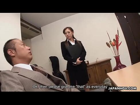 Lady Ramu sucking off her boss and foot fucks him
