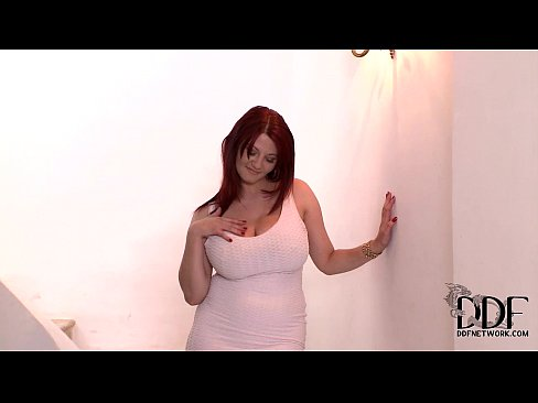 Vanessa Busts Her Luscious 34DD Tits Out Of Her Mini Dress