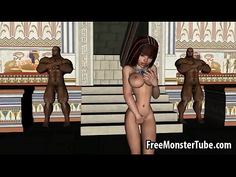 Hot 3D cartoon egyptian babe gets double teamedh 1  [Hentai Anime 3D Porn HentaiPornTube.net]