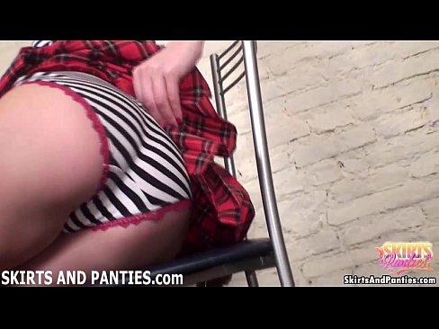18yo sascha lifting up her little skirt 7