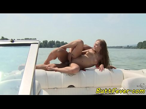 Anally fucked babe loves outdoor sex