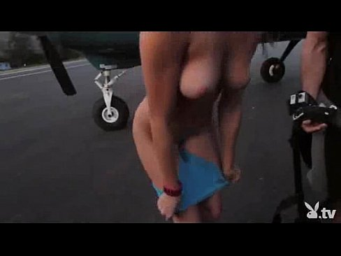 Woman naked skydiving