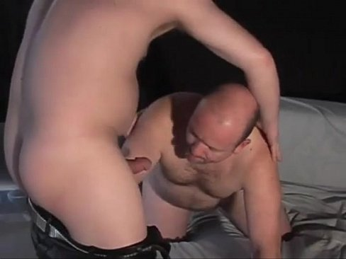 Furious anal pounding as horny pig daddies in leather fuck hard