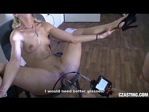 Czasting smoking hot blonde with slim body