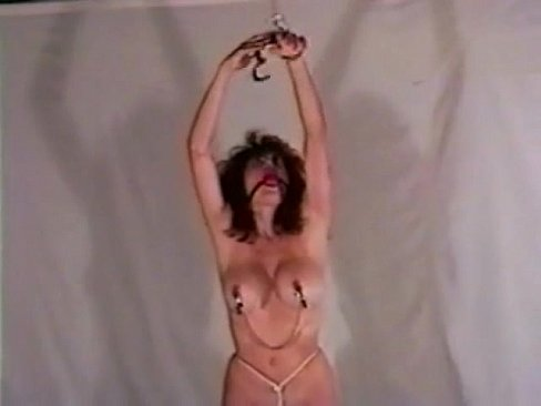 Self bondage rope in pussy