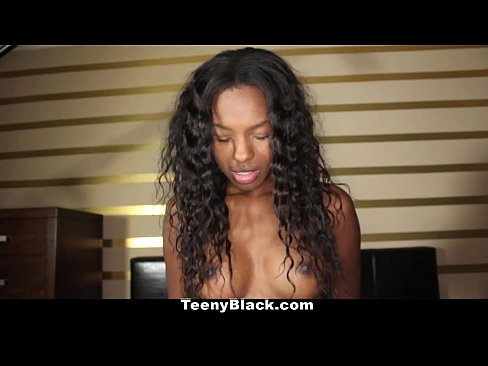 TeenyBlack - Ebony Teen Armani Monai Loves Sucking White Cock!