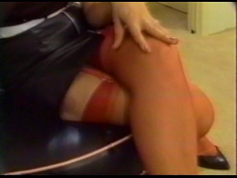 Slut in white stocking tube