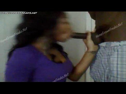 Imagen Negra colegiala folla con su novio negro