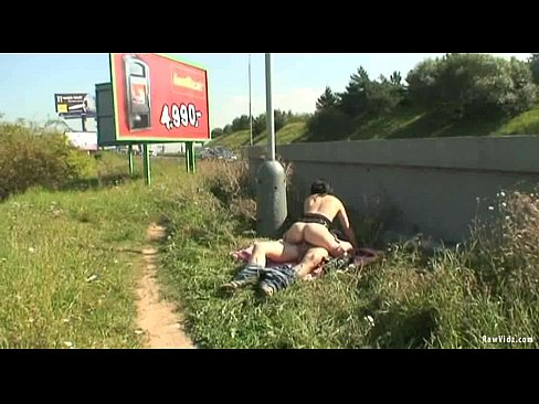 Stopping at the side of the motorway to make some amateur public porn