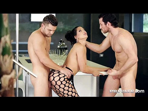 Alexa Tomas Gets Dominated By Two Hard Cocks