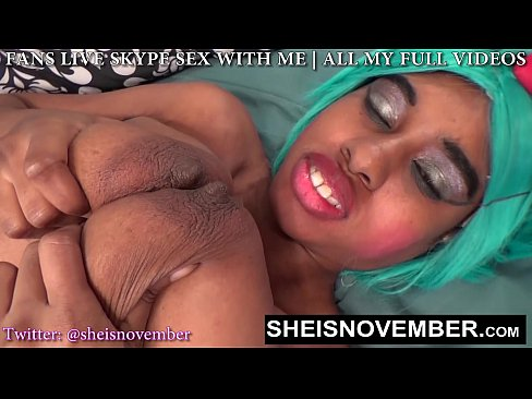 SLUT FREAK MSNOVEMBER FUCKED HER PUSSY & TITS FOR WEIRD HORNY CLIENT JOI 18 OLD