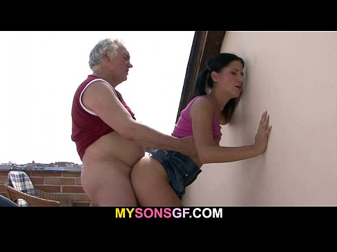 Dad fuck sons wife