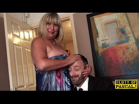 Milf catches husband masturbating