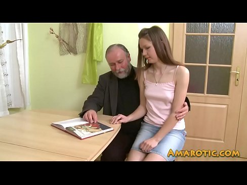 Old man - young girl - HD