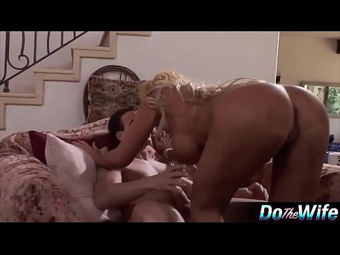 Blonde wife loves fucking a porn stud