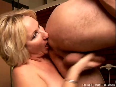 image Mature wife giving rimjob and blowjob from lo