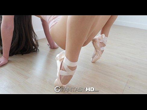 Little flexible ballerina Lucy Doll spreads her legs