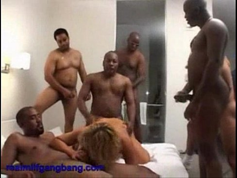 amateur black gangbang - Blonde MILF Jean gets banged by black cocks - real milf gangbang 1  ---CockTaiL--- - XNXX.COM