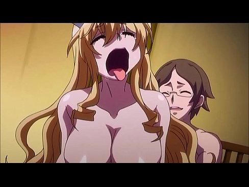 【エロチックアニメーション作品】金髪のエロ巨乳お嬢様が濃厚エッチ