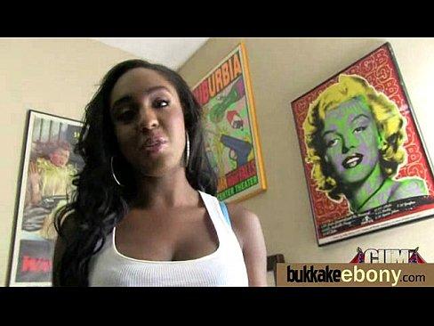 Черная порнозвезда буккаке дебют 21