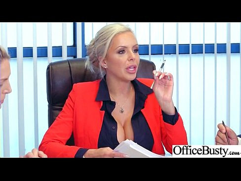 (Nina Elle) Girl With Round Big Tits In Hard Style Sex In Office clip-21